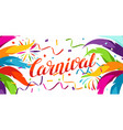 carnival party banner with colorful decorative vector image