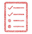 checklist page fabric textured icon vector image vector image