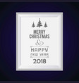 christmas card with dark purple background vector image