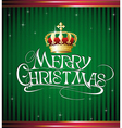 Christmas card with gold crown vector image