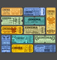 cinema tickets for movie show or seance isolated vector image