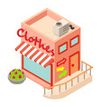 clothes shop icon isometric style vector image vector image