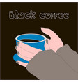 coffee break created vector image vector image