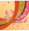 Colorful background with sakura blossom Japanese vector image