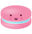 cute macaron character vector image