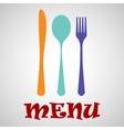 Cutlery menu vector image vector image