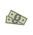 dollar icons in flat style on a white background vector image