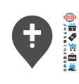 drugstore marker icon with free bonus vector image vector image