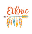 ethnic boho style element print hipster fashion vector image