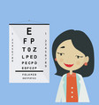eye doctor ophthalmologist woman character in vector image vector image