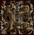 floral hand drawn paisley seamless pattern luxury vector image