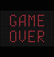 game over message vector image
