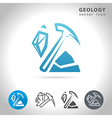 geology blue icon vector image vector image
