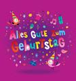 german happy birthday greeting card vector image vector image