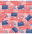 grunge seamless pattern with american flag vector image