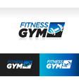 Gym Fitness Logo Icon vector image vector image