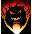 halloween pumpkin shadow vector image