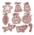 hand drawn sketch traditional christmas cookies vector image