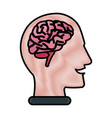 human head with brain vector image vector image