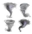 hurricane vortex realistic tornado 3d twister vector image vector image