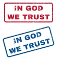In God We Trust Rubber Stamps vector image vector image
