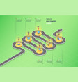 isometric navigation map infographic 6 steps vector image