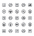 media mobile and communication icons vector image vector image