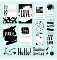 Modern card tag and sticker set for vector image