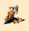 moto sport supermoto icon sticker design vector image vector image