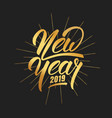 new year happy new year 2019 hand lettering with vector image vector image