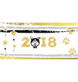 new years greeting banner with dog vector image vector image