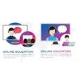 Online education Webinar vector image vector image