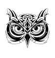 Owl head tattoo vector image vector image