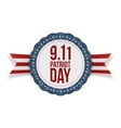 Patriot Day circle Banner with Ribbon vector image vector image