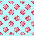 peppermints candies cream seamless pattern red vector image vector image