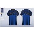 polo t-shirt mockup template design vector image vector image