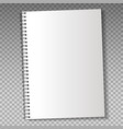 Realistic template notebook vector image vector image