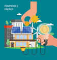 renewable energy concept flat style vector image