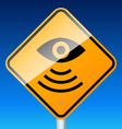 road sign warns vector image vector image
