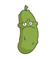 sad depress dill pickle cartoon vector image vector image