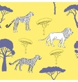 Seamless pattern with savanna animals-03 vector image vector image