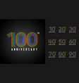 set of anniversary logotype colorful anniversary vector image vector image