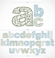 Set of beautiful lowercase letters decorated with vector image