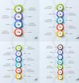 set timeline business vertical infographic vector image vector image