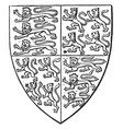 shield of queen philippa is a heraldic shield vector image vector image