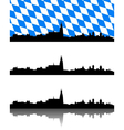 Silhouette of Regensburg Bavaria vector image vector image