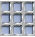 Square Metal Lattice Seamless Pattern