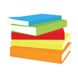 Stack of books vector image vector image