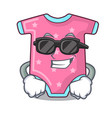 super cool cartoon baby clothes on hanger rack vector image
