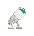 telescope flat icon vector image
